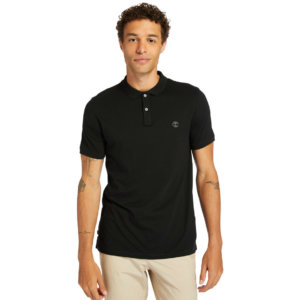 Timberland Cocheco River Supima® Cotton Polo Shirt For Men In Black Black, Size L