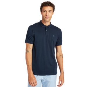 Timberland Cocheco River Supima® Cotton Polo Shirt For Men In Navy Navy, Size 3XL