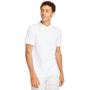 Timberland Cocheco River Supima® Cotton Polo Shirt For Men In White White, Size 3XL