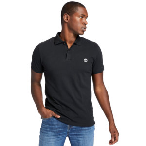 Timberland Merrymeeting River Polo Shirt For Men In Black Black, Size M