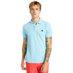 Timberland Merrymeeting River Polo Shirt For Men In Blue Blue, Size L