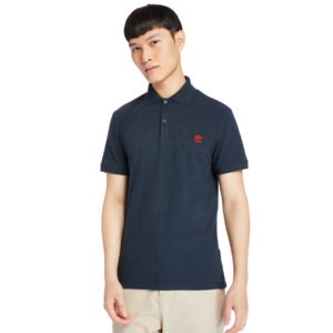 Timberland Merrymeeting River Polo Shirt For Men In Navy Navy, Size 3XL