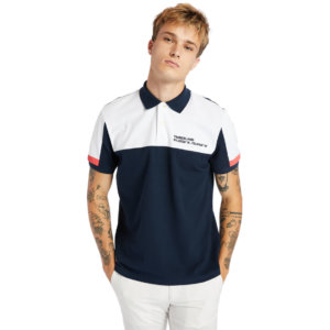 Timberland Millers River Colour-block Polo Shirt For Men In Navy Navy, Size M
