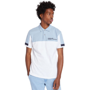 Timberland Millers River Colour-block Polo Shirt For Men In White White, Size L