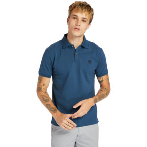 Timberland Millers River Polo Shirt For Men In Blue Blue, Size L
