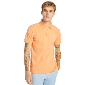 Timberland Millers River Polo Shirt For Men In Peach Peach, Size L