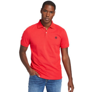 Timberland Millers River Polo Shirt For Men In Red Red, Size L