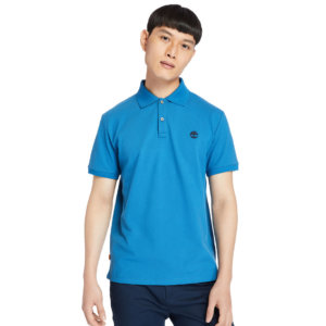 Timberland Millers River Polo Shirt For Men In Teal Teal, Size XXL