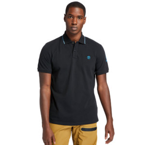 Timberland Mountain-to-rivers Polo Shirt For Men In Black Black, Size 3XL