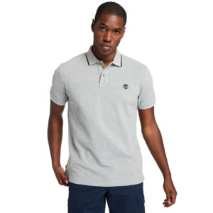 Timberland Mountain-to-rivers Polo Shirt For Men In Grey Grey, Size L