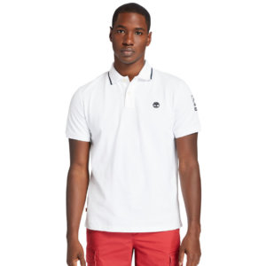 Timberland Mountain-to-rivers Polo Shirt For Men In White White, Size L