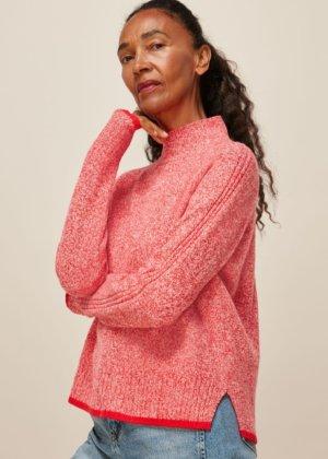 Tipped Funnel Merino Wool Knit