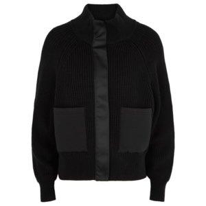 Varley Delfern Black Knitted Cotton Jacket