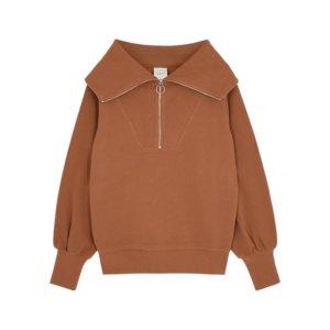 Varley Vine Half-zip Ribbed Jersey Sweatshirt