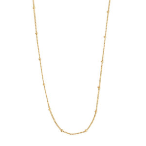 Wanderlust + Co - Beaded Chain Gold Necklace