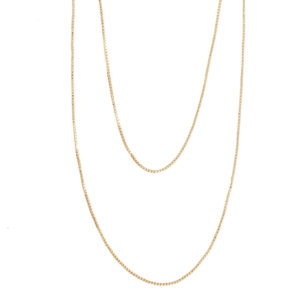 Wanderlust + Co - Classic Chain Layered Gold Necklace