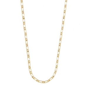 Wanderlust + Co - Figaro Chain Gold Necklace