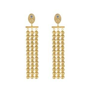 Wanderlust + Co - Luna Gold Drop Earrings
