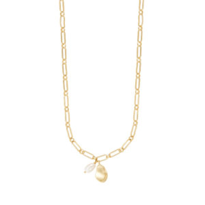 Wanderlust + Co - Pocketful Pearl Gold Necklace