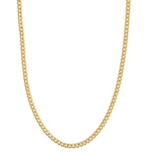 Wanderlust + Co - Romee Curb Chain Gold Necklace