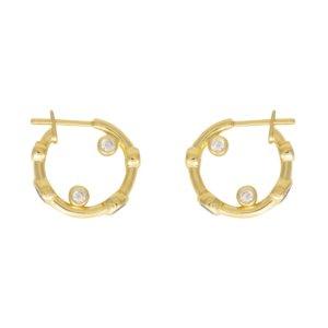 Wanderlust + Co - Skylar Gold Huggies Earrings