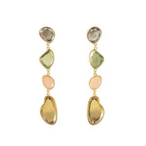 Wanderlust + Co - Soleil Gem Gold Earrings