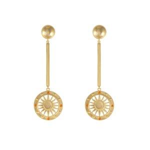 Wanderlust + Co - Solis Gold Drop Earrings