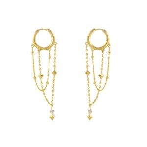 Wanderlust + Co - Zyia Cosmic Gold Earrings