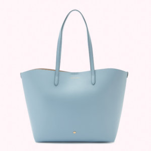 Wedgewood Blue Leather Ivy Tote