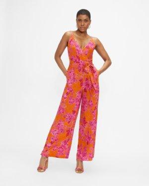 Wide Leg Culotte Jumpsuit