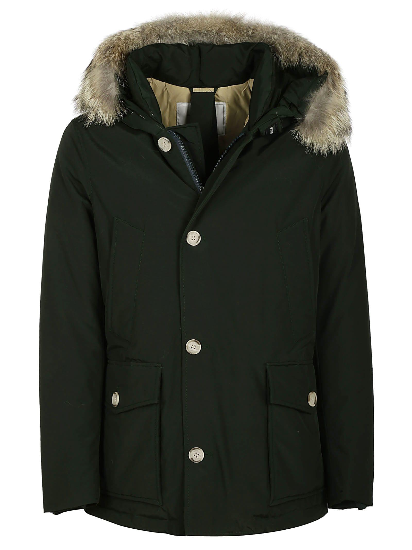 black parka jacket with fur hood
