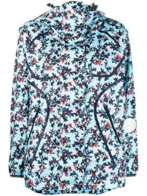 adidas by Stella McCartney TruePace floral-print run jacket - Blue