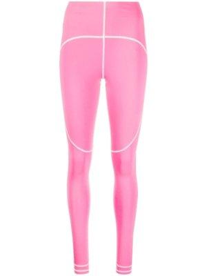 adidas by Stella McCartney contrast-seam leggings - Pink