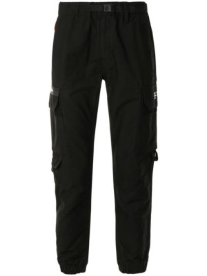 AAPE BY *A BATHING APE® belted cargo cotton trousers - Black