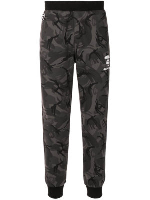 AAPE BY *A BATHING APE® camouflage-pattern tapered track pants - Grey