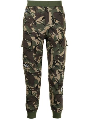 AAPE BY *A BATHING APE® camouflage print cargo track trousers - Green