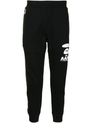 AAPE BY *A BATHING APE® camouflage-print panelled track pants - Black