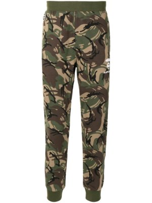 AAPE BY *A BATHING APE® camouflage-print tapered track pants - Green