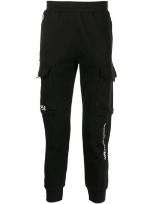 AAPE BY *A BATHING APE® cargo track trousers - Black