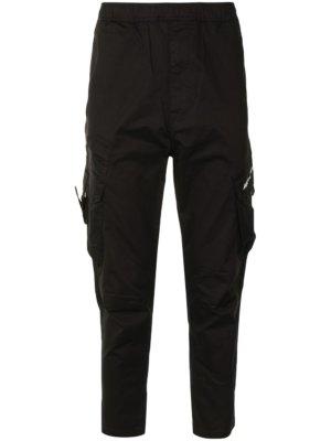 AAPE BY *A BATHING APE® elasticated waistband cargo trousers - Black