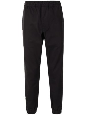 AAPE BY *A BATHING APE® logo-patch tapered trousers - Black