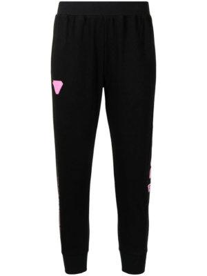 AAPE BY *A BATHING APE® logo-print cropped track pants - Black
