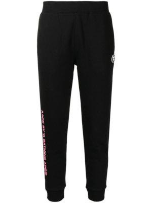 AAPE BY *A BATHING APE® logo-print skinny track pants - Black