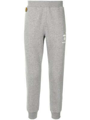 AAPE BY *A BATHING APE® logo-print tapered track pants - Grey