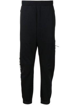 AAPE BY *A BATHING APE® stripe logo-leg trackpants - Black