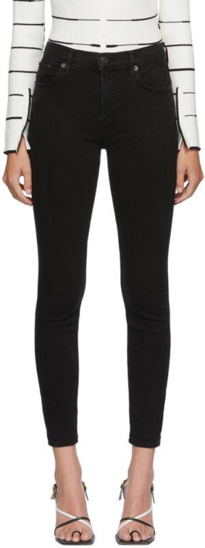 AGOLDE Black Sophie Mid-Rise Jeans
