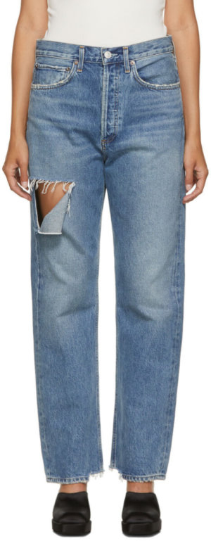 AGOLDE Blue 90s Mid Rise Jeans