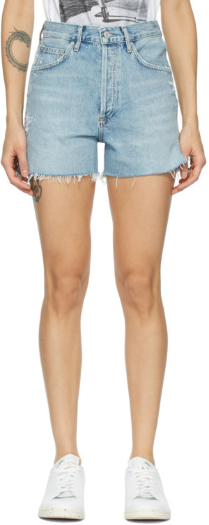 AGOLDE Blue Dee Super High-Rise Shorts