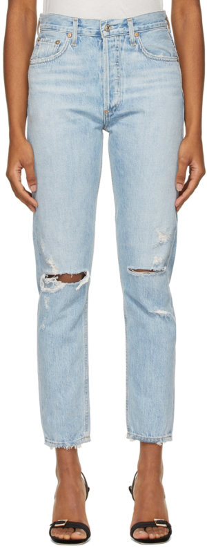 AGOLDE Blue Jamie High-Rise Classic Jeans