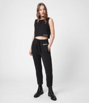AllSaints Womens Lila Sweatpants, Black, Size: 2